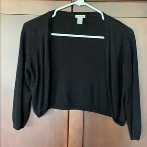 Maurice's black cropped sweater